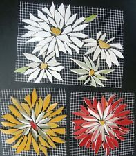 Broken China Mosaic Tiles Daisy Rose Aster Flower Size Color Variations 3 In 2020 Mosaic Flowers Mosaic Art Projects Mosaic Tiles