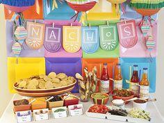 Cinco de Mayo fiesta from Piggy Bank Parties! #cincodemayo #fiesta #nachobar