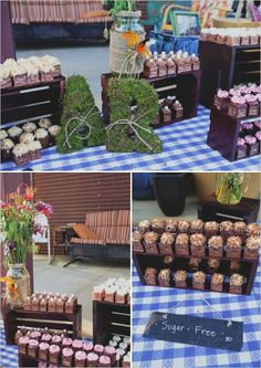 wedding favor table- I love the staging