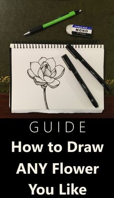 Floral Art Tutorial for Beginners Learn how to draw any flower you like with pen and ink. Flower art guide with many drawings and sketches examples. Guide for artists and flower lovers. Flower Art Drawing, Flower Drawing Tutorials, Art Tutorials, Painting & Drawing, Drawing Skills, Drawing Lessons, Drawing Techniques, Learn To Sketch, Learn To Draw