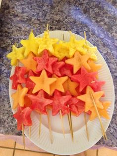 Star fruit skewers
