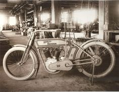 Some old photos from inside the Harley motorcycle factory from the 1910s and 1920s. Description from vintag.es. I searched for this on bing.com/images