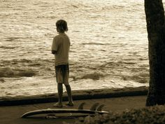 Longing for that perfect wave -- Lawai Beach, Poipu.