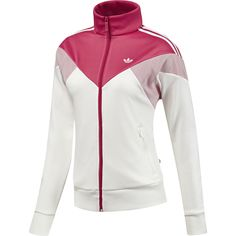 us: Women's Archive Equipe Mesh Track Top, Running White / Blaze Pink, zoom Golf Fashion, Sport Fashion, Fashion 2018, Best Leather Jackets, Future Clothes, Golf Pants, Workout Attire, Sporty Outfits, Golf Outfit