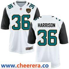 Men s Jacksonville Jaguars  36 Ronnie Harrison White Road Stitched NFL Nike  Game Jersey Jacksonville Jaguars 3fc522ef9