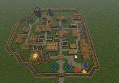 Minecraft town