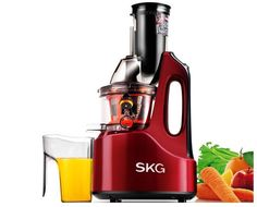 SKG 2088 Wide Chute Anti Oxidation Slow Masticating Kitchen Juicer 240W AC Motor #SKG