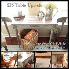 My first project using Annie Sloan Chalk Paint + some tips for using water to dilute paint, plus a trick for newbies who are nervous about using Dark Wax.