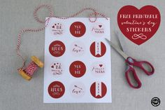 Free Printable Valentine's Day Stickers | submitted to InspirationDIY.com