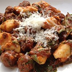 Try this Potato Gnocchi with Meatballs and Polpette Sauce recipe by Chef Adrian Richardson.