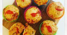 Muffins salés à la crème de poivrons rouges et chorizo apéro apéritif epicerie
