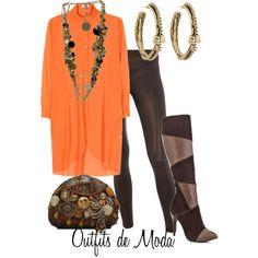 Outfits de Moda ...Me Tomo Cinco Minutos: Un toque de Naranja