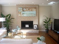painted fireplace idea