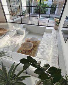 Dream Home Design, Home Interior Design, House Design, Villa Design, Interior Livingroom, Interior Plants, Modern Interior, Casa Hygge, Living Room Designs