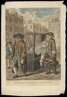 Print, Return from a Masquerade, 1784