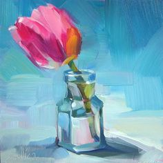 A Painting a Day by Patti Mollica: More Tulips (SOLD)
