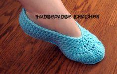 Ballet slipper adult women's - free pattern (top pattern on a flip flop)