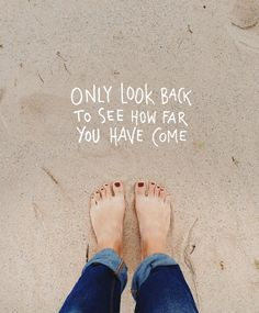 Only look back to see how far you have come | Motivational quotes, inspiring… #Greatwordsofwisdom