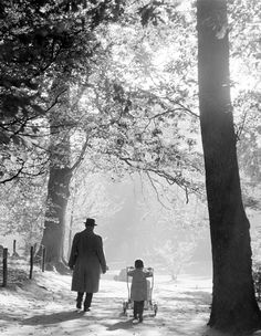 """"""" Walking together -2- """" about 1953-1958. photo: Kees Scherer"""
