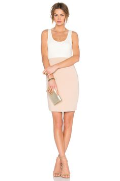 Lovers + Friends x REVOLVE Ma Cherie Bodycon Dress in Nude