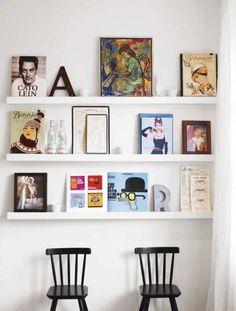 Calhas ou apoio para quadros e livros | Coisas da Doris