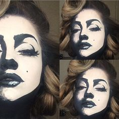 Great makeup for Halloween! Looks so fake