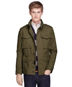 Brooks Brothers Military Waxed Cotton Blend Jacket
