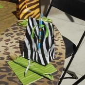 Jungle animal theme for baby shower - favor bags