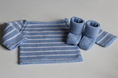 Ravelry: Project Gallery for Striped Raglan Baby Pullover pattern by Lion Brand Yarn