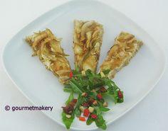 Rohkost (Roh) Rezept vegan: Zwiebelkuchen / raw recipe: onion cake