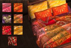 Jonesi Bed Blaket recolors - used for curtains...Moroccan Lot