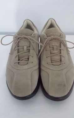 "MBT Womens ""BEACH"" Beige Suede SHOES for Walking & Toning US-W  SIZE 9.5 NWOB #MBT #WalkingHikingTrail"
