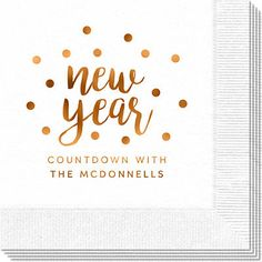 Confetti Dots New Year Napkins