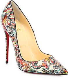 Christian Louboutin So Kate Artistic-Print Python Pumps on shopstyle.com