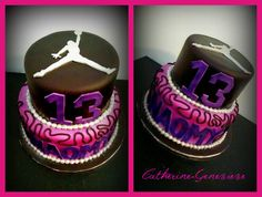 Basketball Jordan Cake for girl!