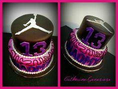 Basketball Jordan Cake for girl!