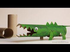 Animales con rollos de papel higiénico - YouTube