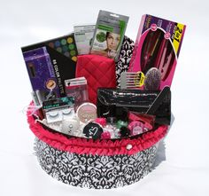 Makeup and personal hygiene gift basket | gift ideas | Pinterest ...