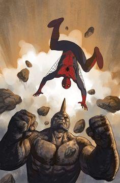 Spider-Man vs. Rhino by Paul Harmon