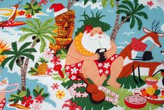 drinks on hawaiian beach | ... , Tropical, Beach, Santa, Christmas, Tiki, Hawaiian, Mele Kalikimaka