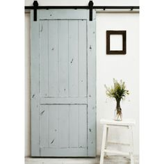 The Country Vintage barn door features a lightly distressed finish on a classic barn door design. This style is versatile, and fits well in almost any setting. All Dogberry barn doors are constructed Wood Barn Door, Wood Doors, 48 Inch Barn Door, Sliding Barn Door Hardware, Sliding Doors, Door Latches, Interior Barn Doors, Home Interior, Interior Design