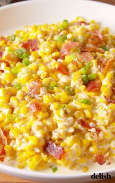 Slow-Cooker Creamed Corn Is The Thanksgiving Side That Won't Take Up Valuable Oven SpaceDelish Slow Cooker Creamed Corn, Creamed Corn Recipes, Side Dish Recipes, Vegetable Recipes, Dishes Recipes, Recipies, Vegetable Salad, Top Recipes, Yummy Recipes