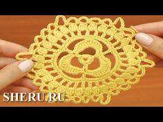 How To Crochet Octagon Урок 19 часть 1 из 3 Ажурное полотно из больших и малых мотивов - YouTube