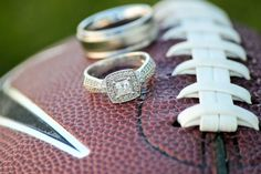 Wedding Rings on a Football #Wedding Photography #Raft Media Boise