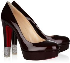 Christian Louboutin Filter 140 crystal-embellished patent-leather pumps was $1,195 now $599.05
