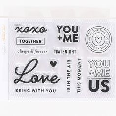 Picture of Stamp Set: 4x3 Valentine by In A Creative Bubble