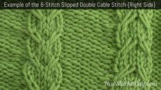 How to Knit the 6-Stitch Slipped Double Cable Stitch NewStitchaDay.com