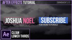 After Effects Tutorial: Clean Modern LOWER THIRDS - http://tutorials411.com/2016/12/30/effects-tutorial-clean-modern-lower-thirds/