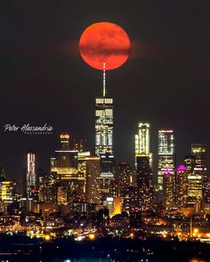 One World Trade Center, Trade Centre, Manhattan Nyc, City Photography, Seattle Skyline, First World, New York City, Cities, Moon