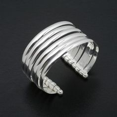 Evil Pawn Jewelry-African Silver Stack Cuff - Image 1